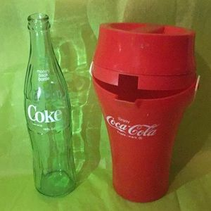 Coca-Cola Glass Money Back Bottle 1960s 1970s and